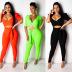 hot sale sexy fashion deep V strap slim nightclub set NSWNY62262