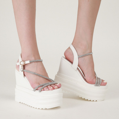 Summer Rhinestones High Platform Shoes NSCA62408