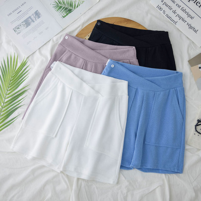 Summer Outer Wear Thin Low-waist Five-point Pants NSYAY62496