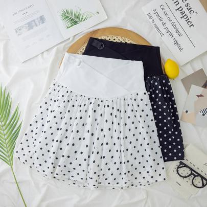 Summer Wear Polka Dot Chiffon Wide-leg Maternity Shorts NSYAY62493