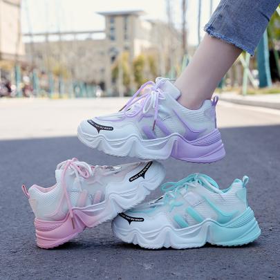 Fashion Mesh Lace-up Casual Platform Sneakers NSYUS63076