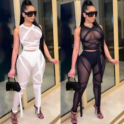 Sexy Gauze Net Skirt Two-piece Set NSWNY62892