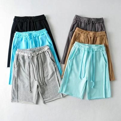 Double Drawstring Sports Summer New High Waist Loose Pants NSAC62993