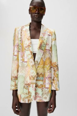 Wholesale Summer Printing Casual Jacket NSAM63101