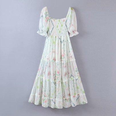 Summer Elastic Fungus Holiday One-piece Dress NSAM63123