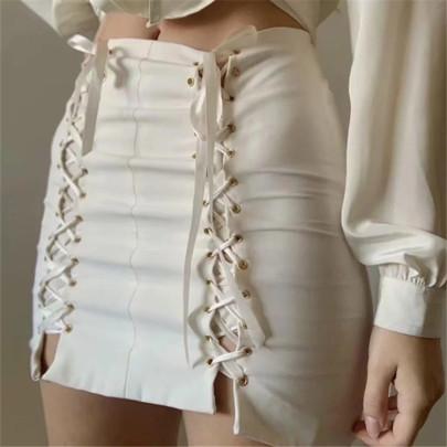 Sexy High Waist Elastic Short Skirt NSAC63132