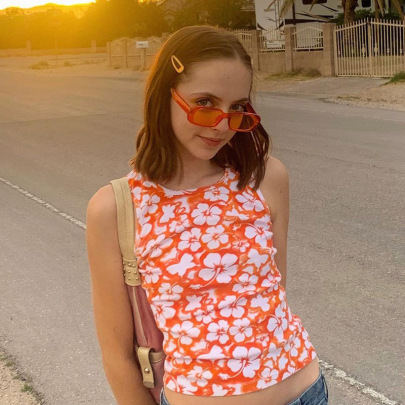 New Style Cute Morning Glory Thin Waist Vest  NSLQ63170