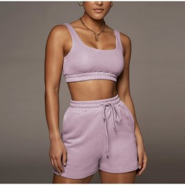 New Solid Color Sexy Summer Top And Shorts Clothes Sets Nihaostyles Clothing Wholesale NSYKD63306