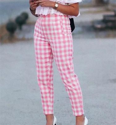 Fashion High Waist Pants Trousers  NSHS63328