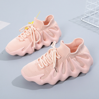 Lace-up Mesh Flat Casual Sneakers NSYUS63374