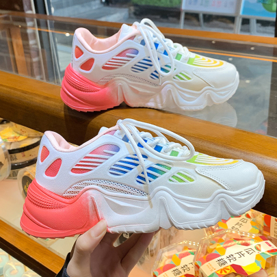 Platform Casual Lace-up Sneakers NSYUS63370