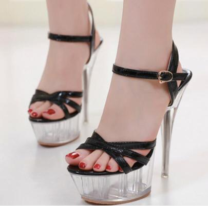 Summer New Sexy Crystal Heel Sandals NSSO60252