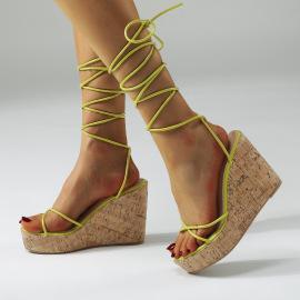 New Wedge Heel High-heel Water Platform Straps Platform Sandals NSSO60272