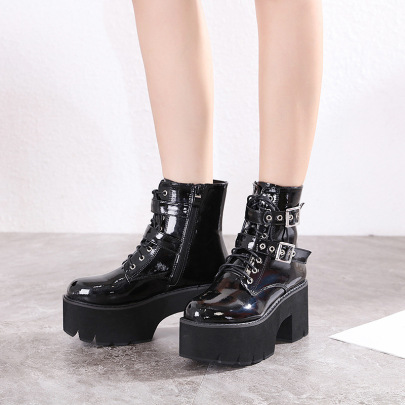 Waterproof Platform Thick-soled Thick High-heeled Boots NSCA60280