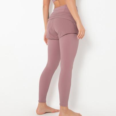 New Tight-fitting Sports Yoga Two-piece Stitching Pants NSLUT60536
