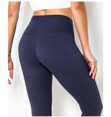 New Double-sided Fitness Nine-point High-waist Pocket Leggings NSLUT60522