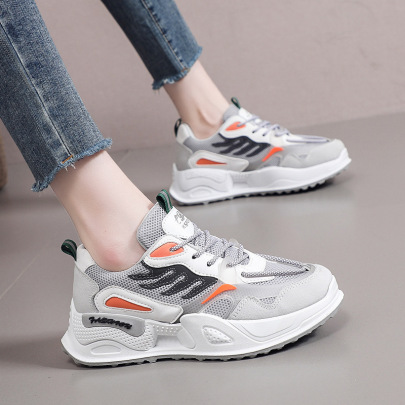 Fashion Lace-up Mesh Breathable Sneakers NSZSC63500