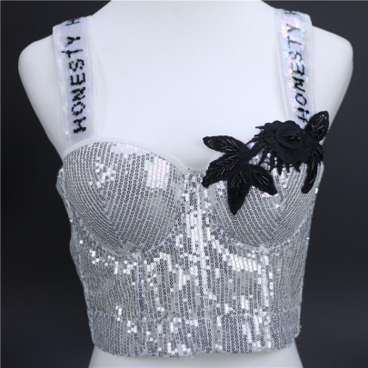 Bead Embroidered Sequined Vest NSQG63629