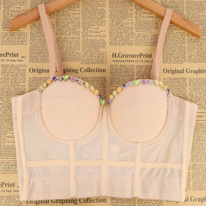 Beaded Chest Pad Cami Top  NSQG63640