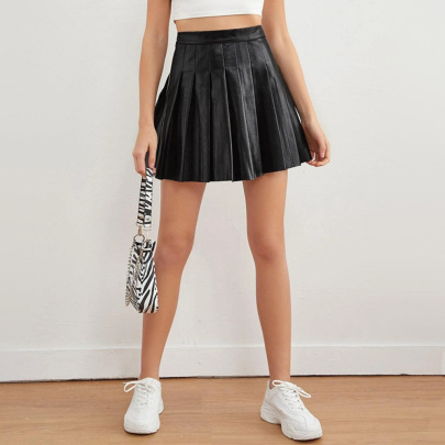 Pleated Short Summer Sexy High Waist Skirt NSQY63664