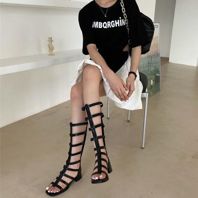 Summer New Sexy Mid-heeled Sandals NSHU63814