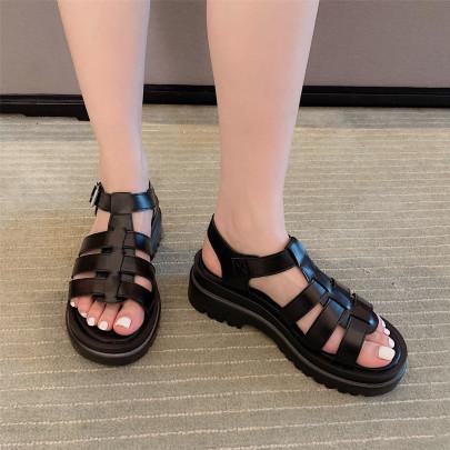 Woven Open Toe Roman Sandals NSHU63824