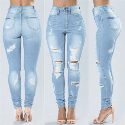 Fashion Blue Rotten Jeans NSWL63945