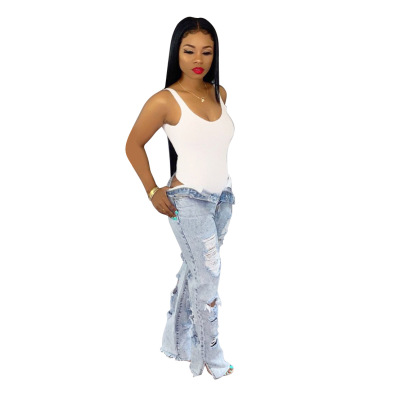 Fashion Non-elastic Straight Trousers NSSF64049