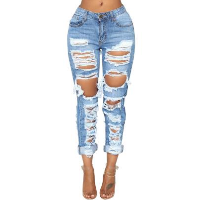 Fashion New Fashion Non-stretch Jeans NSSF64052