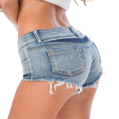 Low Waist Denim Shorts NSML64125
