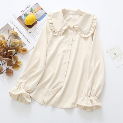 Retro Flavor White Lepalshirt NSYID64224