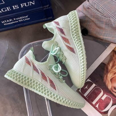Fashion Solid Color Flat Sneakers NSYUS64540