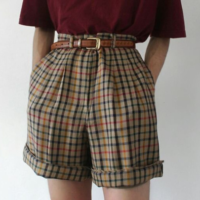Summer Spot New Plaid Casual Shorts NSGJ64390