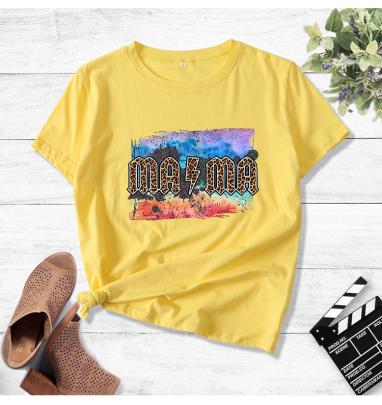 Painting Print MA MA Print Short-sleeved T-shirt  NSOUY64459