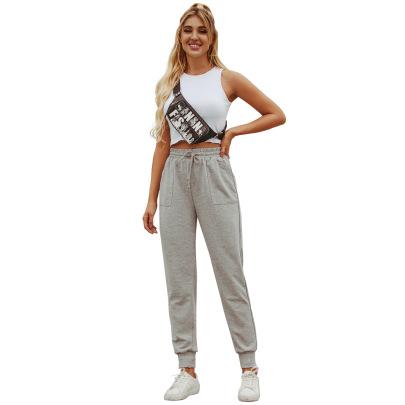 Casual High Waist Sweater Trousers NSJM64503