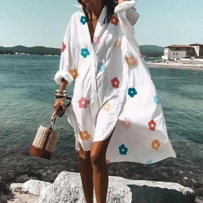 Summer And Autumn Fashion Style Explosive Shirt Dress NSMS64585