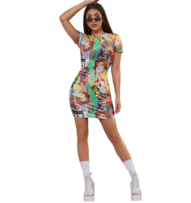 Printed Casual Style Dress NSYC64654