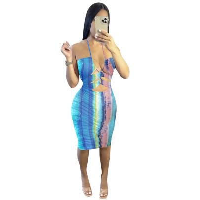 New Summer Sexy Striped Printed Dress NSYC64667