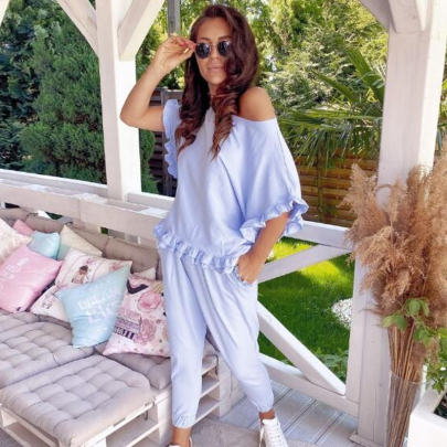 Loose Solid Color Long-sleeved Casual Set NSSUO64797
