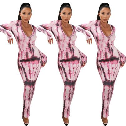 New Fashion Printed Long Dress NSNK64949