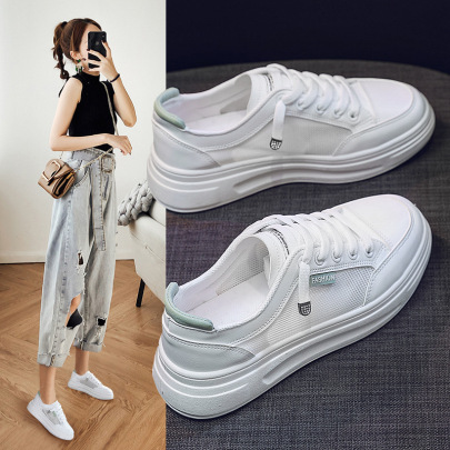 Thick-soled New Summer Breathable Mesh Casual All-match Sneakers NSNL60415
