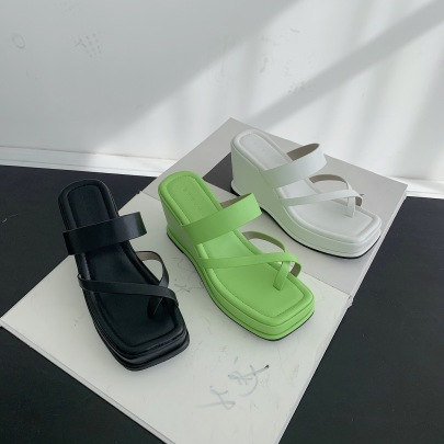 Fashion Solid Color Wedge Sandals NSCA60452
