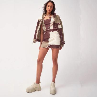 Fashion Splicing Tassual Skirt NSYB65097