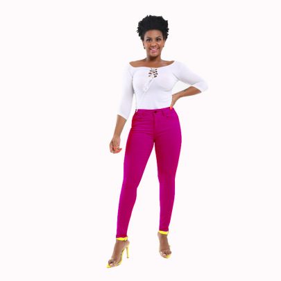 Trend Pure Color Jeans  NSYB65146