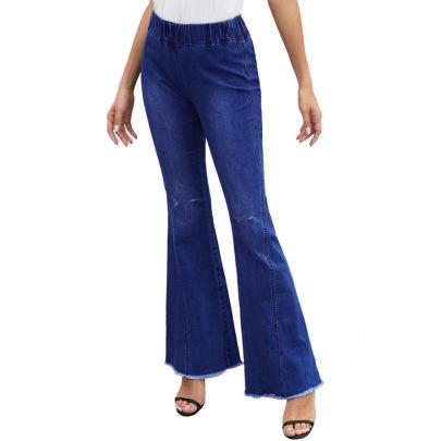 High Stretch High Waist Bell Bottom Jeans NSYB65149