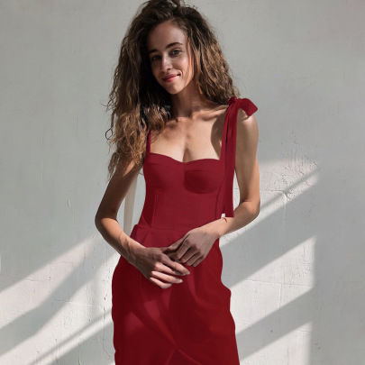 Spring/Summer New Sexy Wrapped Chest Sling Dress NSYLF65231