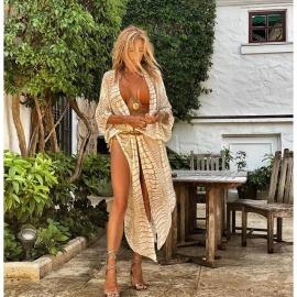 Sunscreen Beach Loose Chiffon Cardigan NSYF60544