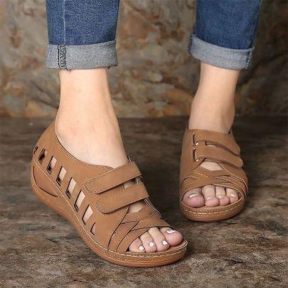 Comfortable Flat Open Toe Velcro Sports Sandals NSZSC61326