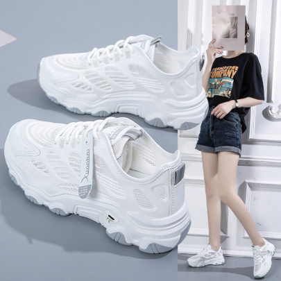 Fashion Trend Mesh Breathable White Sports Shoes NSSC61335