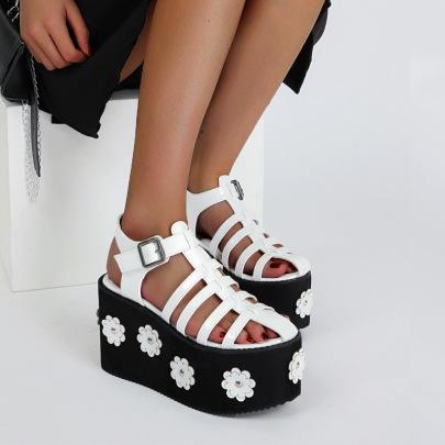 Fashion Daicy Print Wedge Sandals NSSO61341